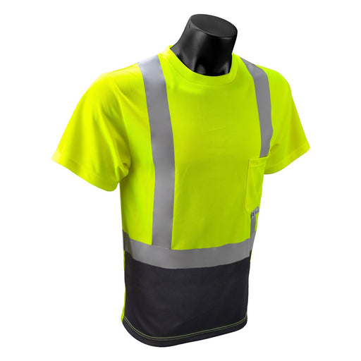 Radians ST11B-2 TYPE R CLASS 2 Short Sleeve Black Bottom T-Shirt: Global Construction Supply