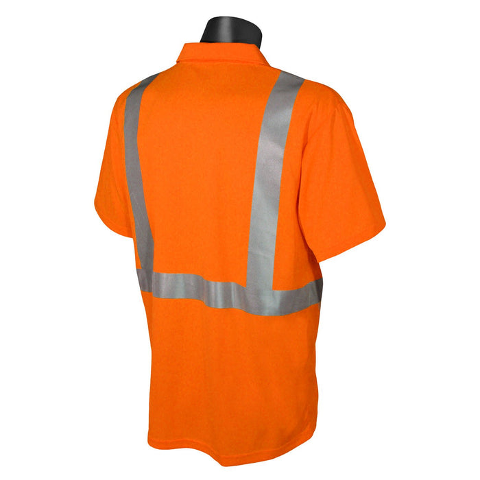 Radians ST12-2 Type R Class 2 Hi-Viz Safety Polo with MAX-DRI™: Global Construction Supply