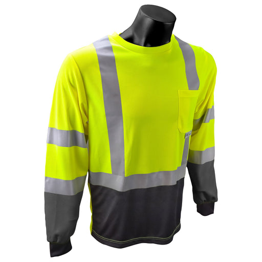 Radians ST21B-3 TYPE R CLASS 3 Long Sleeve Black Bottom T-Shirt with MAX-DRI™: Global Construction Supply