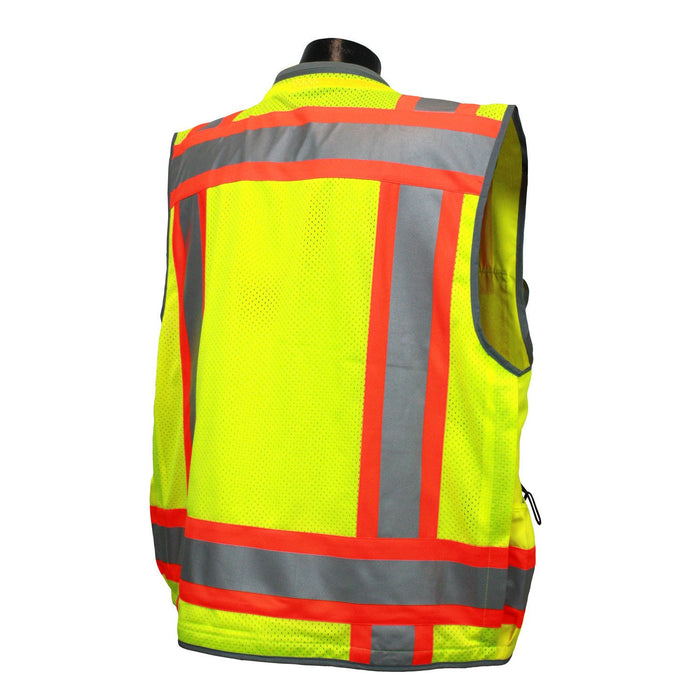 Radians SV55 CLASS 2 Heavy Woven Two Tone Engineer Safety Vest: Global Construction Supply