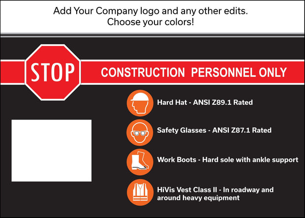"30"" x 42"" Custom Sign With Your Company Name and Logo Graphic - Global Construction Supply"
