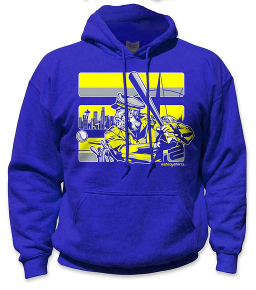 SafetyShirtz - Skipper Safety Hoodie - Yellow/Royal: Global Construction Supply