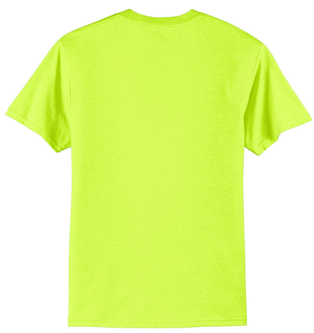 Port & Company PC55 50/50 Cotton/Poly Safety Green or Safety Orange Hi Vis T-Shirt: Global Construction Supply