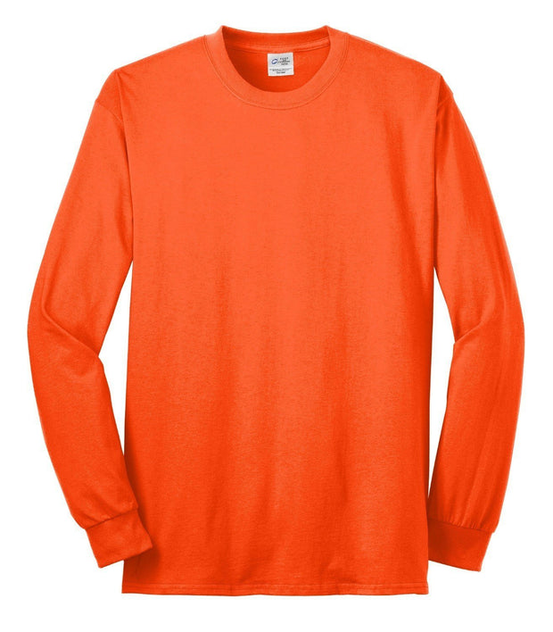 Port & Company PC55LS 50/50 Cotton/Poly Hi Vis Long Sleeve T-Shirt: Global Construction Supply