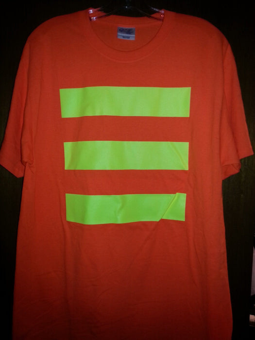 Port & Company PC55O Hi Vis Safety Orange T-Shirt with Stripes: Global Construction Supply