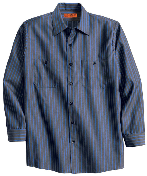 Red Kap CS10 Long Sleeve Striped Industrial Work Shirt: Global Construction Supply