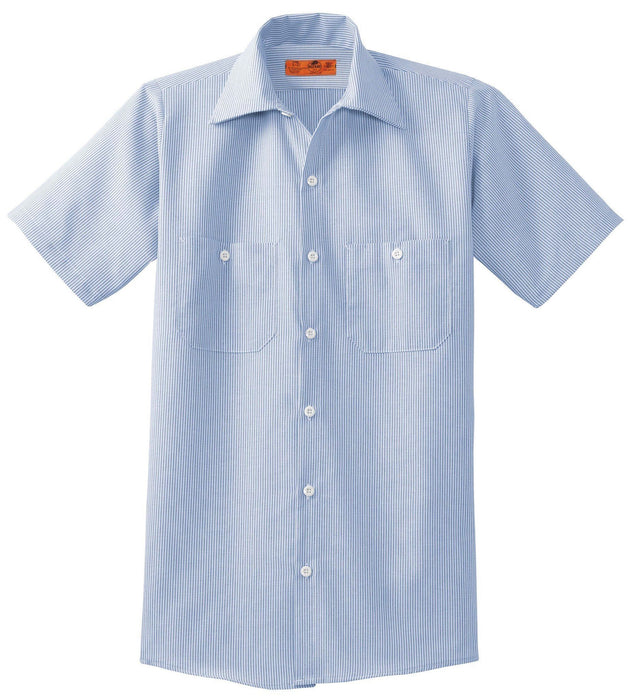 Red Kap CS20 Short Sleeve Striped Industrial Work Shirt: Global Construction Supply