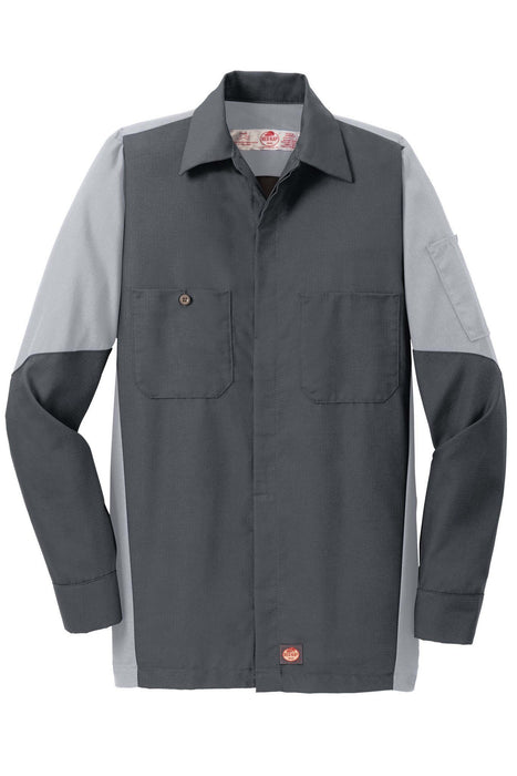 Red Kap SY10 Long Sleeve Ripstop Crew Shirt: Global Construction Supply