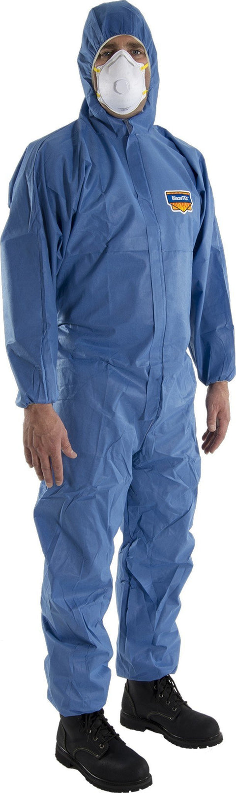 Majestic 74-202F FR Flame Resistant SMS Coverall Attached Hood (CASE): Global Construction Supply