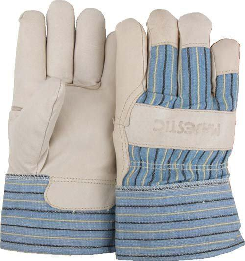 Majestic 1520 Pigskin Palm Leather Work Gloves Polyester Fiber Lined Gauntlet Cuff (DOZEN) - Global Construction Supply