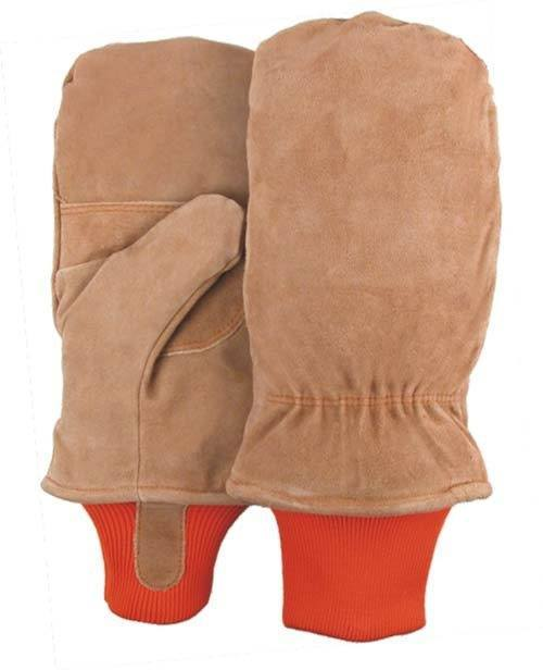 Majestic 1636 Split Cowhide Leather Freezer Mitten Thinsulate Lined Knit Wrist (DOZEN) - Global Construction Supply