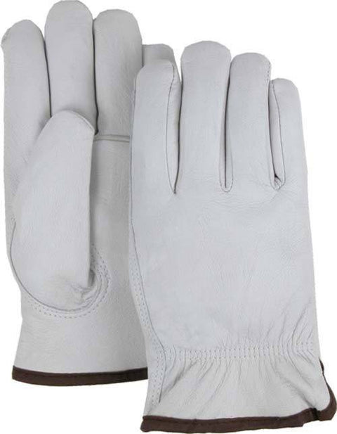 Majestic 1660 Goatskin Leather Driver Gloves Red Fleece Lined (DOZEN) - Global Construction Supply