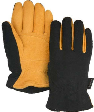Gloves - Majestic 1664 Gold Deerskin Split Leather Driver Gloves Heatlok Lined (DZ)