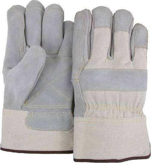 Majestic 1800DP Split Cowhide Leather Work Gloves Double Palm Kevlar Sewn (DOZEN) - Global Construction Supply