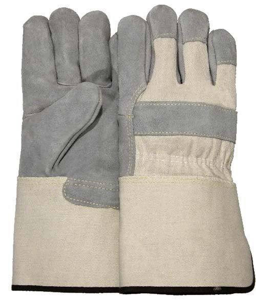 Majestic 1801 Split Cowhide Leather Palm Work Gloves Kevlar Sewn Rubberized Gauntlet (DOZEN) - Global Construction Supply