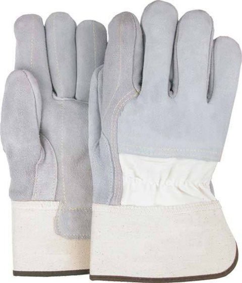 Majestic 1830 Split Cowhide Leather Work Gloves 3/4 Back Double Palm Kevlar Sewn (DOZEN) - Global Construction Supply