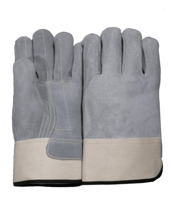 Majestic 1831 Split Cowhide Leather Work Gloves Double Palm Kevlar Sewn (DOZEN) - Global Construction Supply