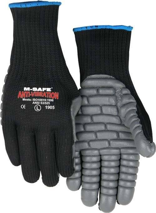 Majestic 1905 Full-Fingered 7-gauge Anti-Vibration Gloves Neoprene Palm (DOZEN) - Global Construction Supply