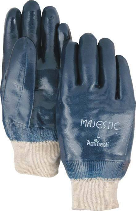 Majestic 3201 Heavy Weight Fully Coated Nitrile Dipped Jersey Knit Gloves (DOZEN) - Global Construction Supply