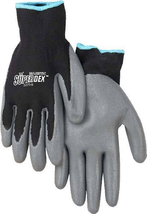 Gloves - Majestic 3270 SuperDex Black/Gray Nitrile Palm Dipped Gloves (DZ)