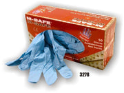Majestic 3278 8 Mil Blue Nitrile Disposable Gloves Powdered 50/Box (CASE) - Global Construction Supply