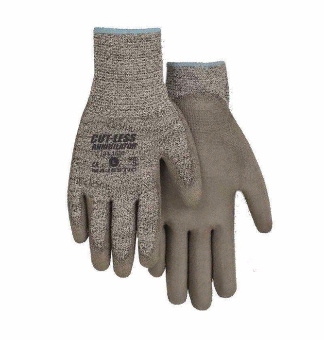 Majestic 33-1500 Cut Resistant Gloves Polyurethane Palm Cut 5 (DOZEN) - Global Construction Supply