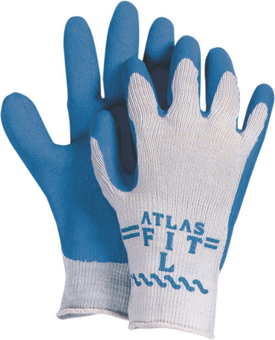 Majestic 3385 Atlas 300 Blue Wrinkled Latex Coating on Gray Knit Shell (DOZEN) - Global Construction Supply