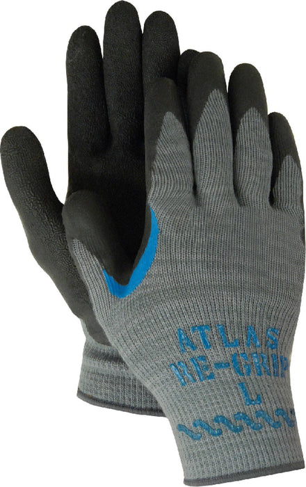 Majestic 3385RG Atlas 330 Black Latex over Blue Latex Dipped Knit Gloves (DOZEN) - Global Construction Supply