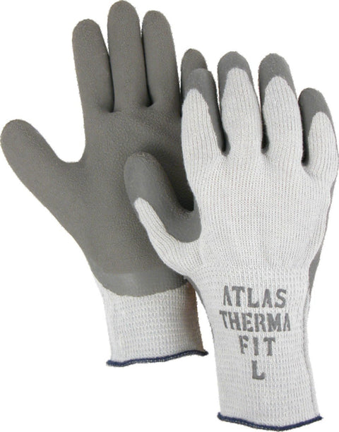 Majestic 3388 Atlas ThermaFit 451 Gloves Gray Rubber Coated Wrinkled Palm Lined (DOZEN) - Global Construction Supply