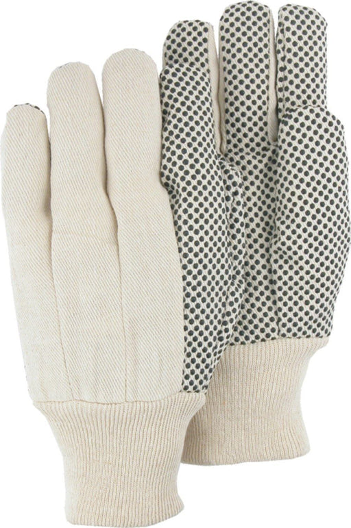 Majestic 3405 8oz Cotton Canvas Gloves with PVC Dots (DOZEN) - Global Construction Supply