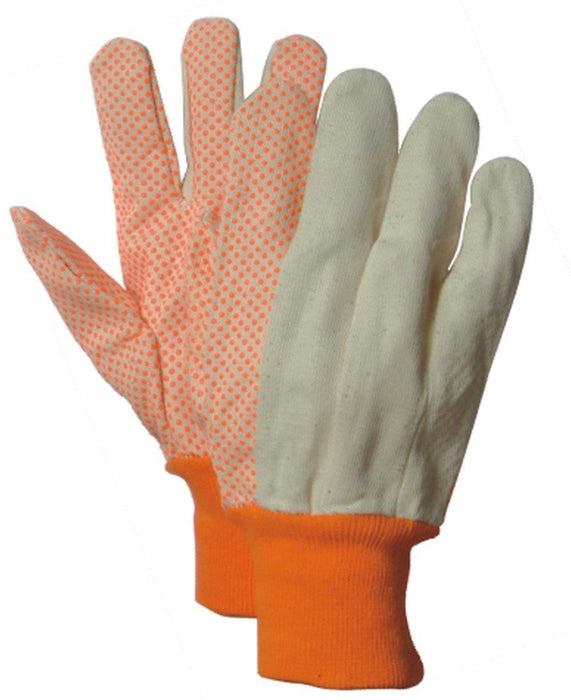 Majestic 3405HV Hi Vis Orange 10oz Cotton Canvas Gloves (DOZEN) - Global Construction Supply