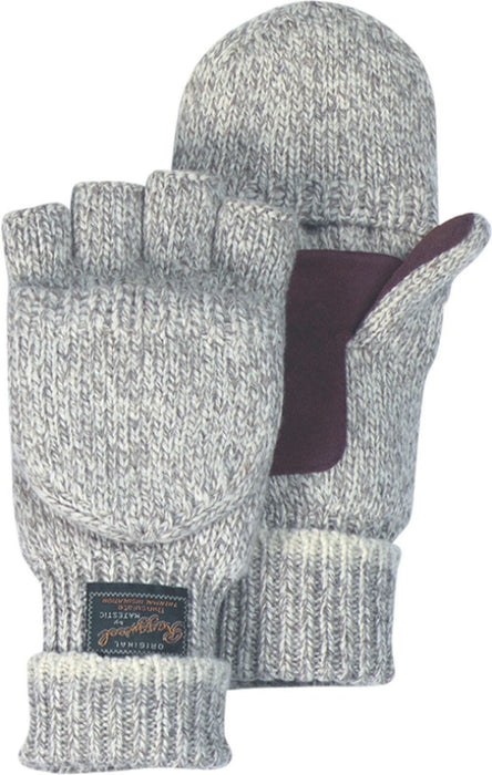 Majestic 3422P Fingerless 2-Ply Rag Wool Knit Gloves Hood Palm Patch Thinsulate Lined (DOZEN) - Global Construction Supply