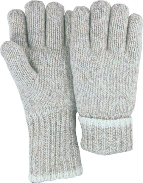 Majestic 3423 Ragg Wool Knit Gloves Full Finger Plain Palm Single Ply Thinsulate Lined (DOZEN) - Global Construction Supply