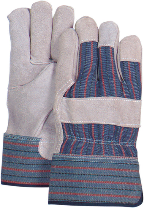 Majestic 3502C Cowhide Palm Leather Work Gloves Pasted Safety Cuff (DOZEN): Global Construction Supply