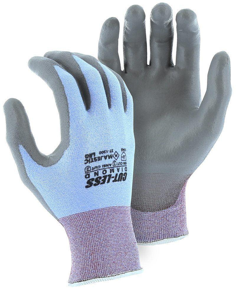 Majestic 37-1300-P Cut Resistant Gloves Dyneema Diamond 18-gauge Polyurethane Palm (Pair): Global Construction Supply