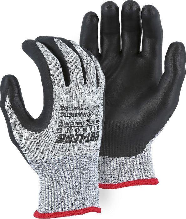 Majestic 37-1565-P Cut Resistant Dyneema Black Nitrile Palm Gloves Cut-Less Diamond (Pair): Global Construction Supply