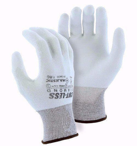 Majestic 37-3435-P Cut Resistant Gloves Dyneema Diamond 13-gauge Polyurethane Palm (Pair): Global Construction Supply
