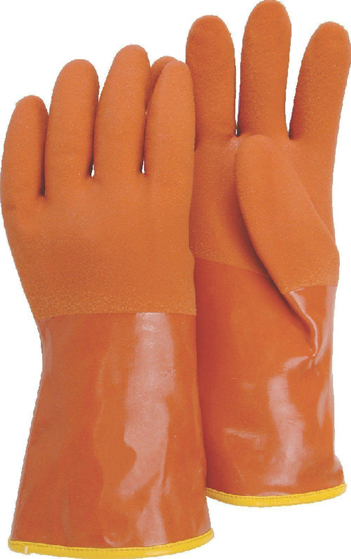"Majestic 3703 Brown Double PVC Coated Gloves 13-guage Thermal Liner 12"" (DOZEN): Global Construction Supply"