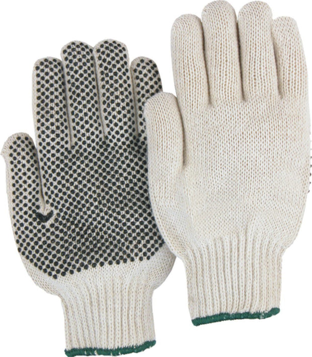 Majestic 3815 String Knit Gloves PVC Dots Natural (DOZEN): Global Construction Supply