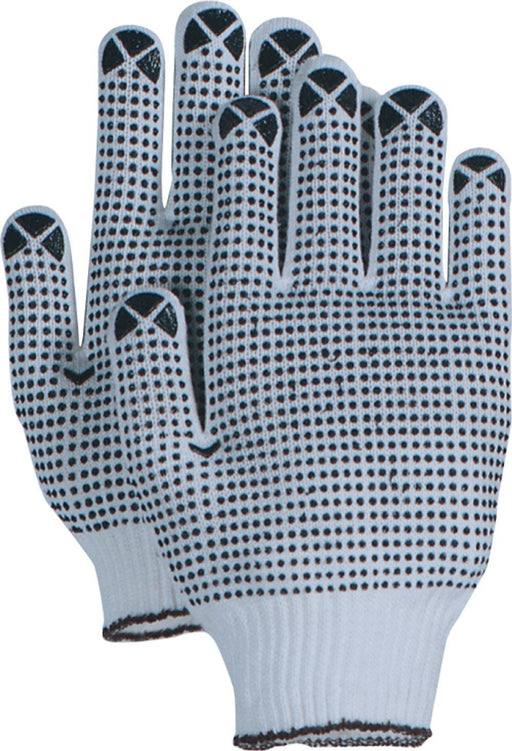 Majestic 3825 Medium Wt String Knit Gloves PVC Dots Natural (DOZEN): Global Construction Supply