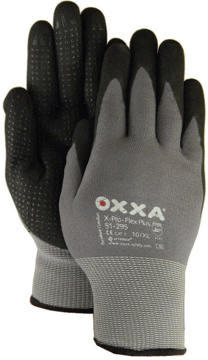 Majestic 51-295 OXXA X-Pro Flex Gloves Micro Foam Nitrile Palm Coating Nylon Shell Dotted Palms (DOZEN): Global Construction Supply