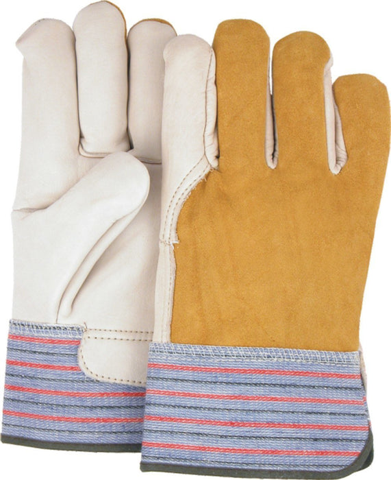 Majestic K5 Grain Cowhide Work Gloves Rubberized Safety Cuff (DOZEN): Global Construction Supply