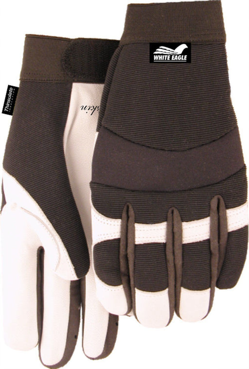 Majestic White Eagle 2153T White Goatskin Palm Mechanic Style Gloves Thinsulate Lined (DOZEN): Global Construction Supply