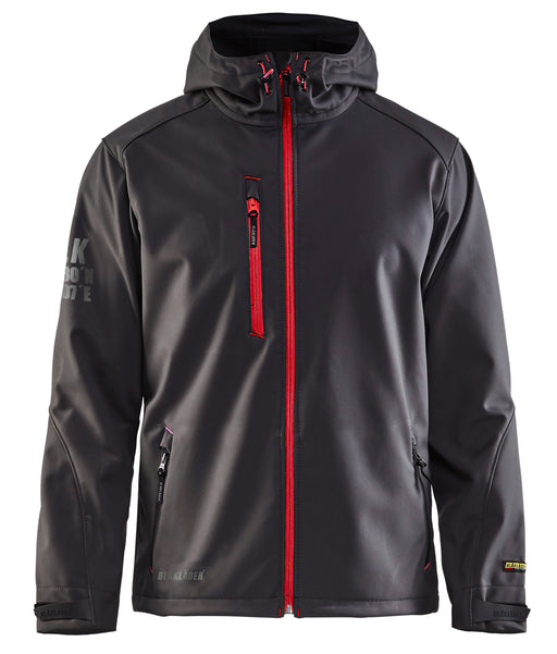 Dark Grey/Red Blaklader US Pro Softshell Jacket 4939