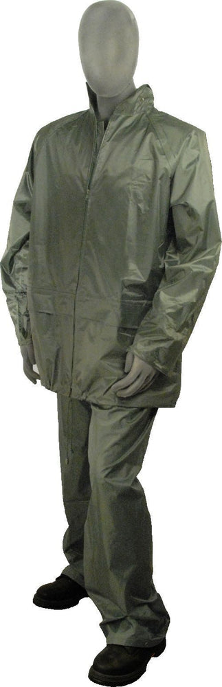 Majestic 71-2000 Green Poly/PVC Coated Rainsuit Pants and Jacket: Global Construction Supply