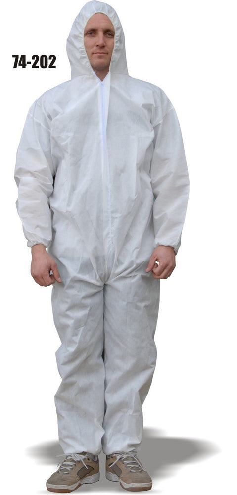 Majestic 74-202 AeroTEX SMS Coverall Elastic Wrist/Ankles Attached Hood (CASE): Global Construction Supply