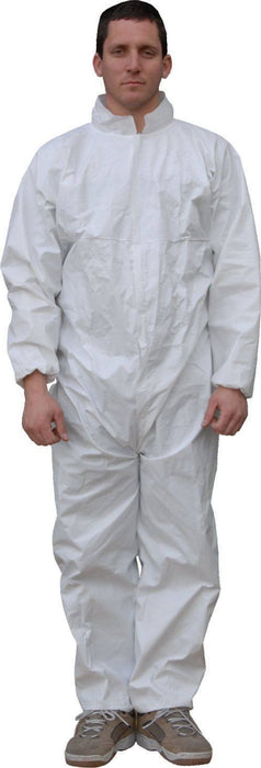 Majestic 74-301 ResisTEX PP/CPE Coated Coverall Elastic Wrist/Ankles (CASE): Global Construction Supply