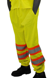 Majestic 75-2501 Hi Vis Yellow Mesh Pants Class E DOT Stripes: Global Construction Supply