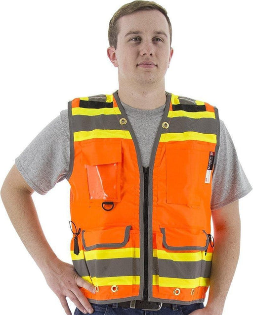 Safety Vest Majestic 75-3236 CL2 Hi Vis Premium Vest: Global Construction Supply