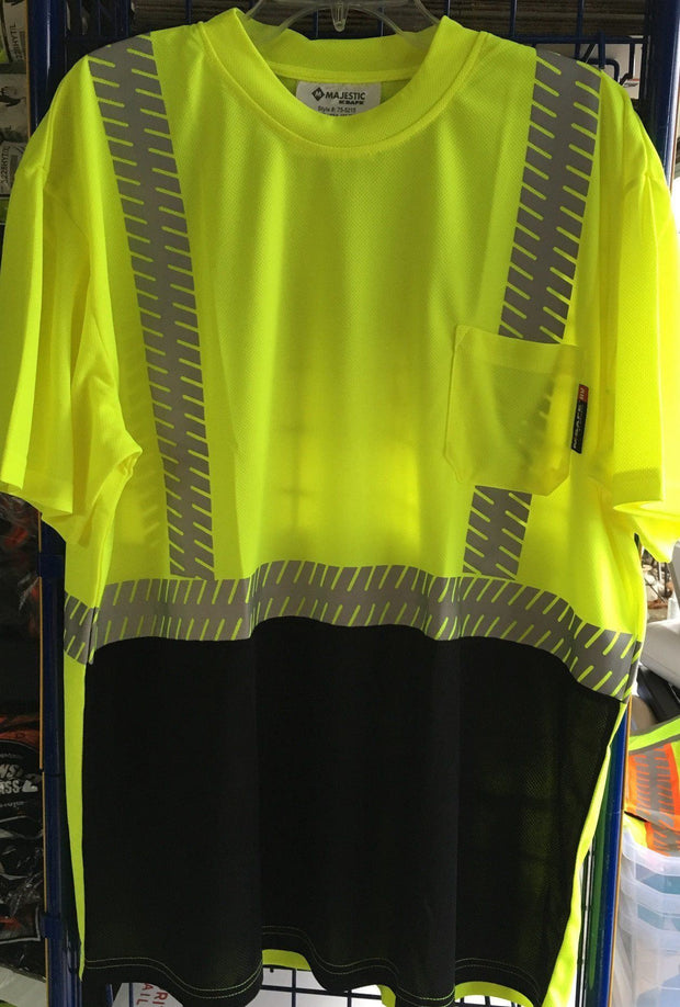 Safety Shirt Majestic 75-5215 Hi Vis CL2 Safety T-Shirt: Global Construction Supply